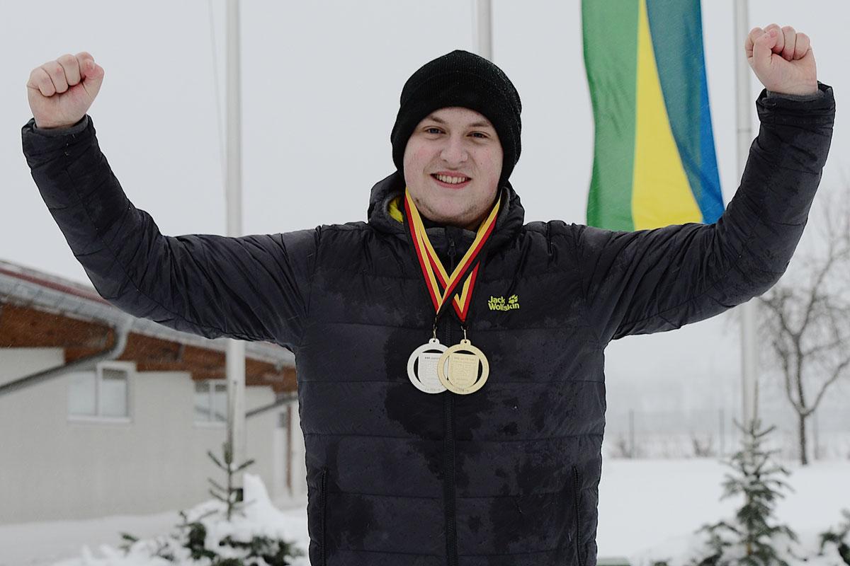 VER Selb Jannik Purucker Siegerehrung Bayerischer Meister 2019