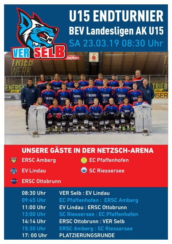 U15- Endturnier Am 23.03.2019 In Der NETZSCH-Arena