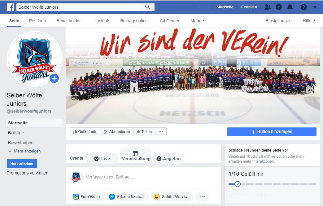 SELBER WÖLFE JUNIORS Mit Gemeinsamen Facebook-Auftritt Und Neuem Logo